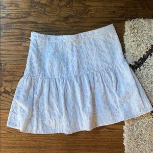 J.Crew seersucker drop waist mini skirt